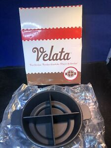 Velata Fondue Sampling Dish Round (Black)**NEW MADE BY SCENTSY