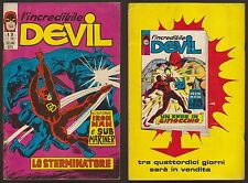 L'INCREDIBILE DEVIL 36 LO STERMINATORE - CORNO 9/9/1971 IRON MAN, SUB MARINER