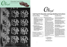 Maple Leaves Chocolate Candy Mold In Sealed Poly Bag w/Instructions