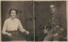 WW1 soldier & Wife unknown regiment Married Winchburgh 31.12.1914 Leith photo