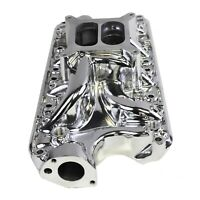 Polished Aluminum Small Block Ford Intake Manifold 60's-70's SBF 260 289 302 5.0