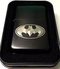 Batman Symbol Black Gift Engraved Cigarette Lighter Biker Gift LEN-0057