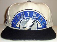 VINTAGE 90's TAMPA BAY LIGHTNING NHL APEX ONE SNAPBACK HAT (GREY UNDER) RARE!