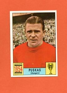 PANINI MEXICO 70 SOCCER CARD FERENC PUSKAS 1954 HUNGARY BISVALIDA BACK EXCELLENT