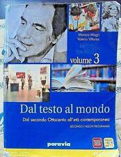 DAL TESTO AL MONDO VOL.3 - MONICA MAGRI e VALERIO VITTORINI - PARAVIA