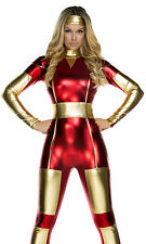 3 Piece Sexy Costume Faux Leather PVC Super Hero/Space Multi Use Costume Size 10