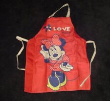 Girls Apron-Minnie Mouse Pattern Children's Brand New
