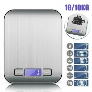 Digital 10kg Kitchen Scales Electronic Balance LCD Food Weight Postal Scale