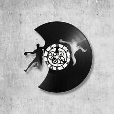 Horloge en disque vinyle 33 tours thème Handball