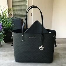 NWT Michael Kors Jet Set Travel Large Drawstring Tote Signature Bag with Pouch