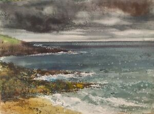 South Devon, Bovisand, Watercolour painting