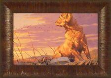 DAY'S END by Taylor Oughton Golden Retriever Dog Duck Decoy 11x15 FRAMED PRINT