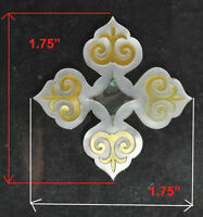 PH18# Square Cross Inlay in White, Gold Mother of Pearl & Abalone 1.5mm thick