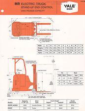 VINTAGE AD SHEET #3063 - 1960s YALE FORKLIFT MODEL M30R
