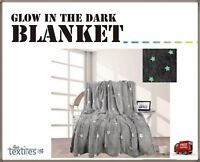 Christmas Design Luxury GLOW in dark Blanket Soft  Warm Home Kids Sofa Bed Throw