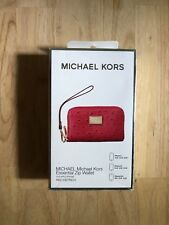 Michael Kors Essential Zip Wallet - iPhone 5, 5s, 4s, 3Gs  - Red Ostrich