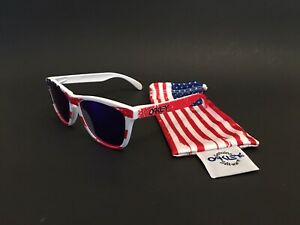 RARE OAKLEY FROGSKINS OLD GLORY POSITIVE RED display vintage zero metal
