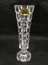 """Vintage Crystal Flower d""""Arques 6.5"""" Flower Vase Clear Modern Home Decor"""