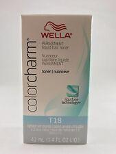 100% Authentic Wella Color charm Hair Toner 1.42 oz - T18 Lightest Ash Blonde