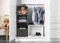 Shelf Hanging Wardrobe Storage Organiser Clothes Hang Closet Rack Shelves