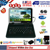 "9"" Inch Android Tablet PC Quad Core 8GB HD Dual Camera Wi-Fi Bundle Keyboard"