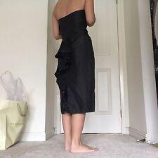 Betsey Johnson Black Bustle Evening Party Pencil Ruffle Dress Size 2 NWT