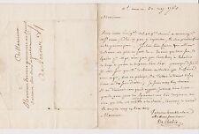 De Corbier. Lettre signée De Corbie. Sur les épices et la Santé. 31 May 1763.