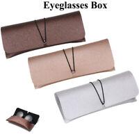 Étui à lunettes en PU étui à lunettes étui à lunettes magnétique portable