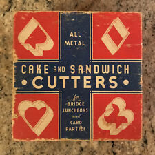 1950s all metal cake and sandwich cutters bridge luncheons