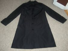 WOMENS HENNES BY H&M BLACK TRENCH DRESS BUTTON FRONT COAT JACKET SIZE 6