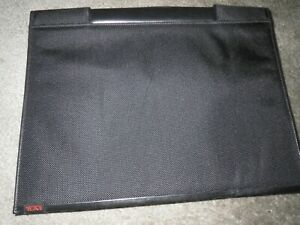 "Tumi Single Handle Briefcase Portfolio 13"" x 10.75 Black"