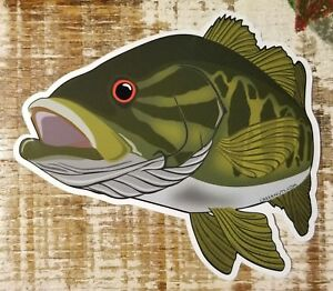 """Fishing Bumper Stickers SMALLMOUTH BASS 5"""" x 4 1/4"""" decals fly fishing smallies"""