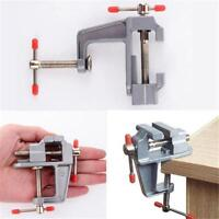 Mini Bench Vise Table Swivel Lock Clamp Vice Craft Cast Aluminum Hand Tools DB