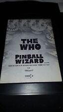 The Who Pinball Wizard Rare Original Promo Poster Ad Framed!