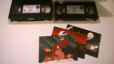 Terry Pratchett's Discworld Soul Music VHS 2 cassettes Parte One Two & postcards