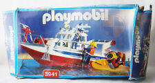 VERY RARE 2000 PLAYMOBIL 3941 COASTAL RESCUE BOAT NEW SEALED CONTENTS !