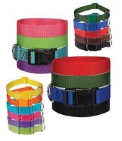 DOG COLLAR BULK PACKS Nylon Litter Band Puppy Rescue Shelter Pick Size & Amount