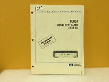 Hp / Agilent 08683-90010 8683A Signal Generator Operating + Service Manual