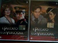 IL PECCATO E LA VERGOGNA  2 DVD NUOVI BLISTERATI EPISODI 1  2  3  4 GARKO ARCURI