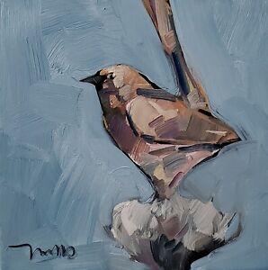 DJOSE TRUJILLO Oil Painting IMPRESSIONISM BIRD FLORAL ARTIST CONTEMPORARY MODERN
