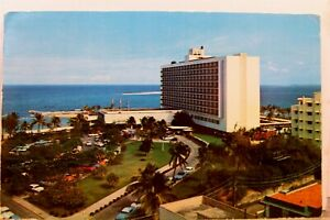 Puerto Rico San Juan Caribe Hilton Hotel Postcard Old Vintage Card View Standard