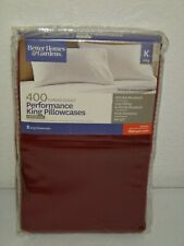 Better Homes /& Gardens Performance set of 2 King Size pillowcases Teal green NEW