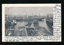 Hampshire Hants SOUTHAMPTON Docks Ships Used 1903 PPC