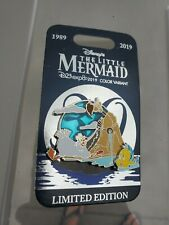 D23 EXPO 2019 THE LITTLE MERMAID SCUTTLE AND FLOUNDER PIN IN HAND LE 300