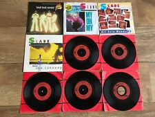 """SLADE JOBLOT 9 X 7"""" VINYL SINGLES - ALL VG+ TO EX+ PRO CLEANED & PLAY GREAT!!"""