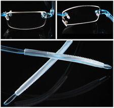TR90 Flexible Reading Glasses Mens Women Rimless Reader +0.50~4.00 diopter Blue