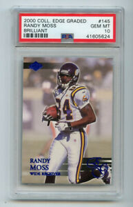 Randy Moss 2000 Collector's Edge Graded Brilliant Blue PSA 10 Gem Mint TH1901