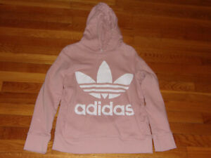 ADIDAS TREFOIL LONG SLEEVE LIGHT PINK HOODIE WOMENS X-SMALL EXCELLENT CONDITION
