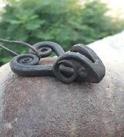 Head of Ram inspired Gaelic Jewelery Pendant HAND FORGED Norse Celtic findings