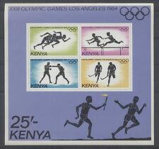 JO LOS ANGELES Kenya 1 bloc de 1984 ** BOXE SAUT COURSE HOCKEY SUR GAZON